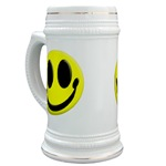 Smiley Face Beer Stein