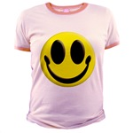 Smiley Face Jr. Ringer T-Shirt