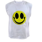 Smiley Face Men's Muscle Tee