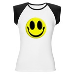 Smiley Face Women's Cap Sleeve T-Shirt