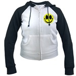 Smiley Face Women's Raglan Hoodie