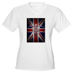 Triumph Speedmaster Art Women's V-Neck T-Shirt