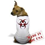 3D Biohazard Symbol Dog T-Shirt