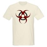 3D Biohazard Symbol Light T-Shirt