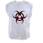 3D Biohazard Symbol Men's Sleeveless Tee