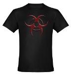 3D Biohazard Symbol Organic Men's Fitted T-Shirt (