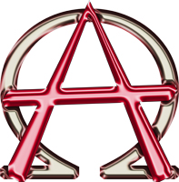 Christian Alpha and Omega Anarchy Symbol
