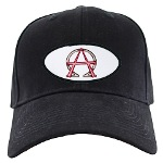 Alpha & Omega Anarchy Symbol Black Cap