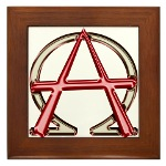 Alpha & Omega Anarchy Symbol Framed Tile