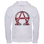 Alpha & Omega Anarchy Symbol Hooded Sweatshirt