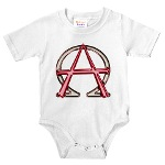 Alpha & Omega Anarchy Symbol Infant Bodysuit