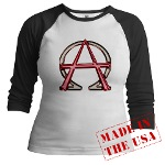 Alpha & Omega Anarchy Symbol Jr. Raglan