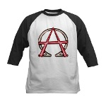 Alpha & Omega Anarchy Symbol Kids Baseball Jersey