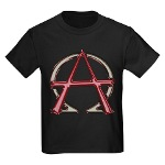 Alpha & Omega Anarchy Symbol Kids Dark T-Shirt