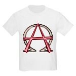 Alpha & Omega Anarchy Symbol Kids Light T-Shirt