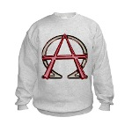 Alpha & Omega Anarchy Symbol Kids Sweatshirt