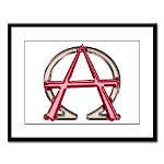 Alpha & Omega Anarchy Symbol Large Framed Print