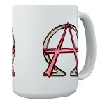 Alpha & Omega Anarchy Symbol Large Mug