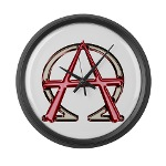 Alpha & Omega Anarchy Symbol Large Wall Clock