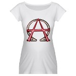 Alpha & Omega Anarchy Symbol Maternity T-Shirt