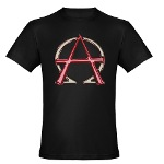 Alpha & Omega Anarchy Symbol Men's Fitted T-Shirt