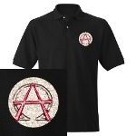Alpha & Omega Anarchy Symbol Men's Polo