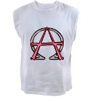 Alpha & Omega Anarchy Symbol Men's Sleeveless Tee