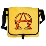Alpha & Omega Anarchy Symbol Messenger Bag