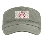 Alpha & Omega Anarchy Symbol Military Cap