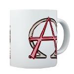 Alpha & Omega Anarchy Symbol Mug