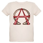 Alpha & Omega Anarchy Symbol Organic Kids T-Shirt
