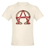 Alpha & Omega Anarchy Symbol Organic Men's Fitted