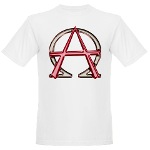 Alpha & Omega Anarchy Symbol Organic Men's T-Shirt
