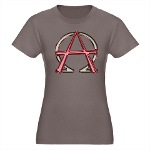 Alpha & Omega Anarchy Symbol Organic Women's Fitte