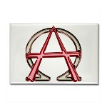 Alpha & Omega Anarchy Symbol Rectangle Magnet