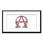 Alpha & Omega Anarchy Symbol Small Framed Print