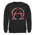 Alpha & Omega Anarchy Symbol Sweatshirt (dark)