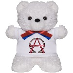 Alpha & Omega Anarchy Symbol Teddy Bear