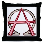 Alpha & Omega Anarchy Symbol Throw Pillow
