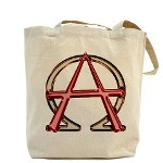 Alpha & Omega Anarchy Symbol Tote Bag