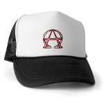 Alpha & Omega Anarchy Symbol Trucker Hat