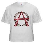 Alpha & Omega Anarchy Symbol White T-Shirt