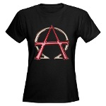 Alpha & Omega Anarchy Symbol Women's Dark T-Shirt