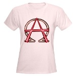 Alpha & Omega Anarchy Symbol Women's Light T-Shirt