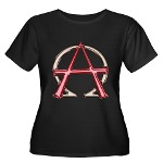Alpha & Omega Anarchy Symbol Women's Plus Size Sco