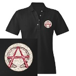Alpha & Omega Anarchy Symbol Women's Polo
