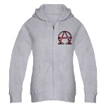 Alpha & Omega Anarchy Symbol Women's Zip Hoodie