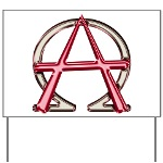 Alpha & Omega Anarchy Symbol Yard Sign