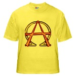 Alpha & Omega Anarchy Symbol Yellow T-Shirt