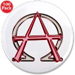 Alpha & Omega Anarchy Symbol 100 Large Buttons